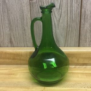 WINE WORLD 1976 Vintage Green Glass Wine Bottle